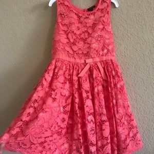 Girls lace bright apricot color.